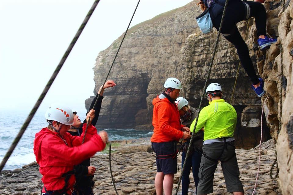 NCS climbing on the jurassic coast