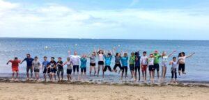 Hazelwood School Group enjoying a Cumulus Coast Residential