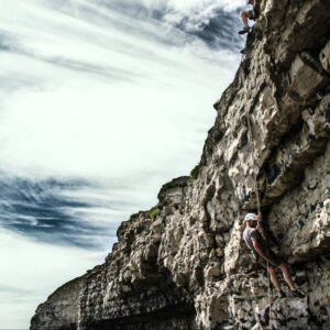 Abseiling at Dancing Ledge