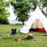 Glamping tipi and accessories Rudy for the Camp Cleavel visitors