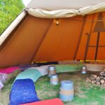 Tipi tent and seating