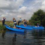 DofE canoeing trip along the river in Dorset