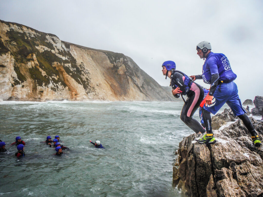 DofE coasteering experience on the Jurassic Coast