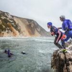 DofE coasteering experience on the Jurassic Coast