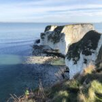 Old Harry Rocks on a bright morning, Studland on the Jurassic Coast