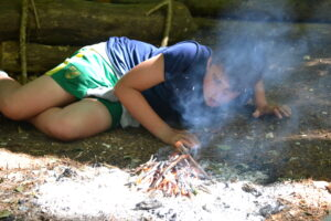 fire lighting in a bushcraft session