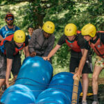 group building a raft