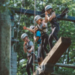 group on high ropes course