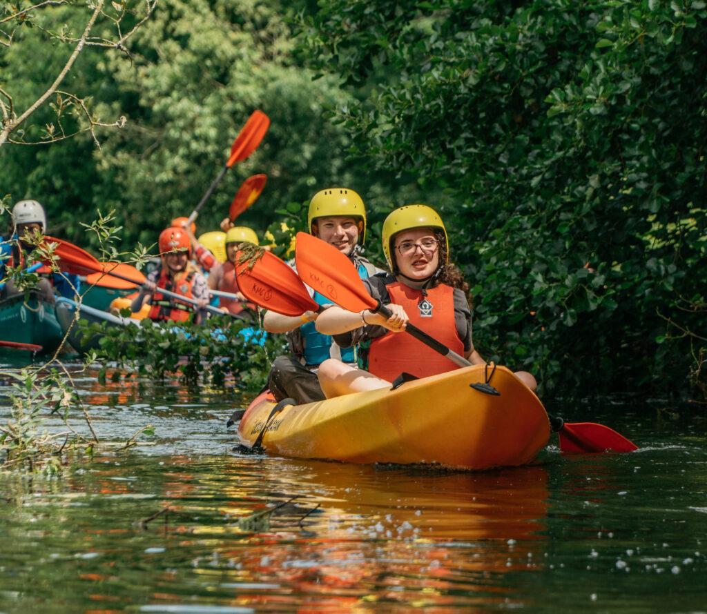 school group kayaking