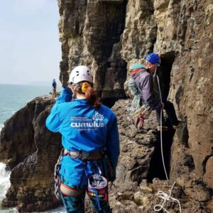 Climbing instructor at Dancing Ledge