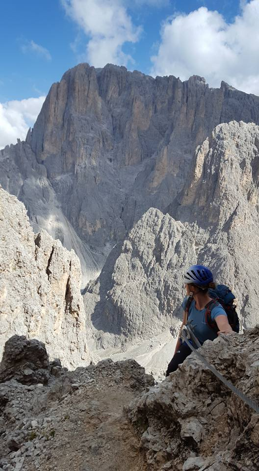 climbing the dolomites in italy