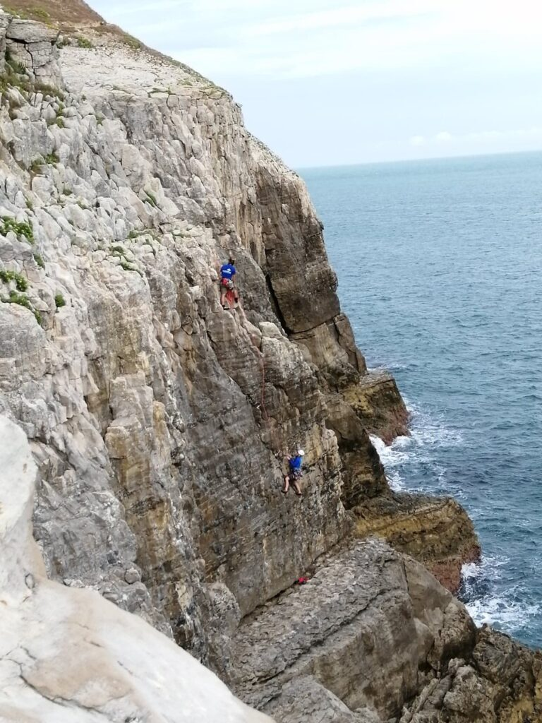 trad climbing in swanage